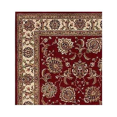 Shelburne Red/Ivory Area Rug Rug Size: Square 8