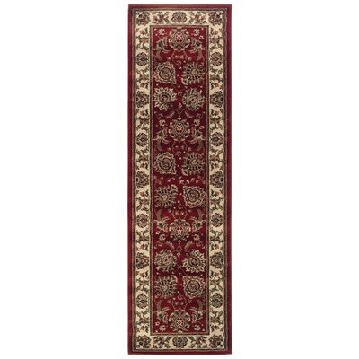 Shelburne Red/Ivory Area Rug Rug Size: Runner 23 x 79