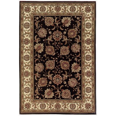 Shelburne Brown/Ivory Area Rug Rug Size: 53 x 79