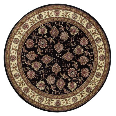 Shelburne Brown/Ivory Area Rug Rug Size: Round 6