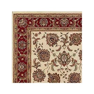 Shelburne Ivory/Red Area Rug Rug Size: Square 8