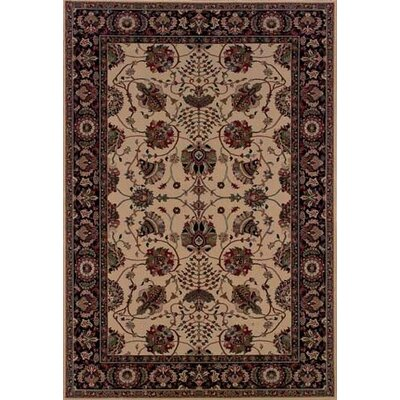 Shelburne Floral Ivory/Black Area Rug Rug Size: Rectangle 4' x 6'
