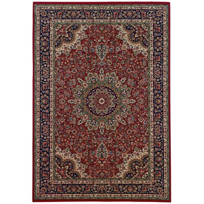 Shelburne Traditional Red/Blue Area Rug Rug Size: 7'10