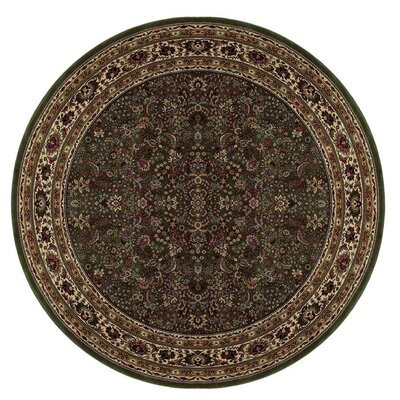 Shelburne Traditional Brown Area Rug Rug Size: Round 8