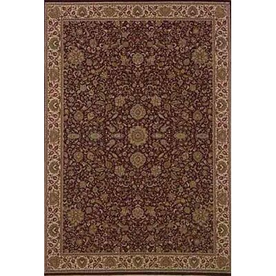 Shelburne Traditional Brown/Ivory Area Rug Rug Size: Round 6