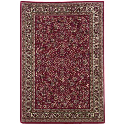 Shelburne Red/Ivory Area Rug Rug Size: 67 x 96