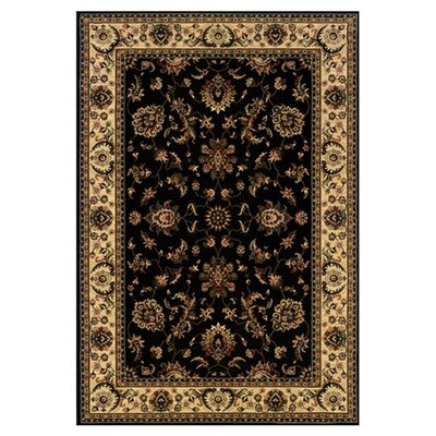 Shelburne Persian Hand Woven Beige/Black Area Rug Rug Size: Rectangle 12 x 15