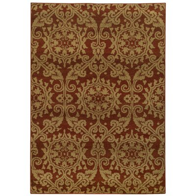 Bovill Rust/Taupe Area Rug Rug Size: Rectangle 310 x 55