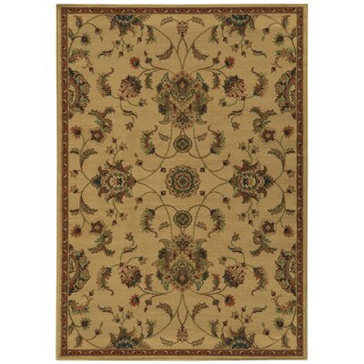 Bovill Beige/Green Area Rug Rug Size: Rectangle 710 x 1010