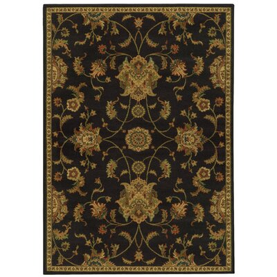 Bovill Black/Green Area Rug Rug Size: Rectangle 53 x 76
