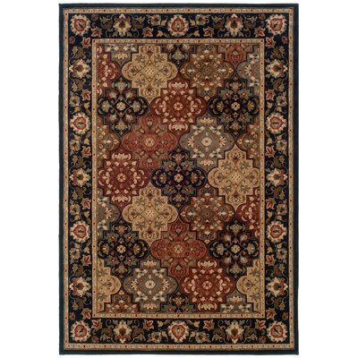 LeClaire Ivory/Green Area Rug Rug Size: Rectangle 53 x 76