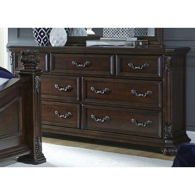 Cavas 7 Drawer Dresser Color: Cognac