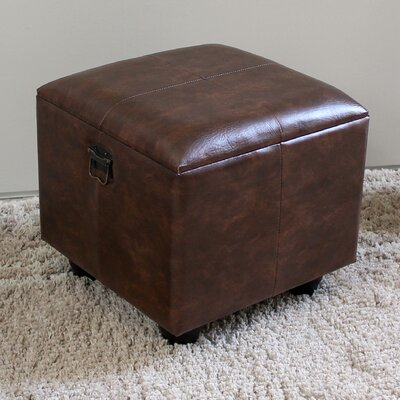 Stone Castle Storage Ottoman Upholstery: Brown
