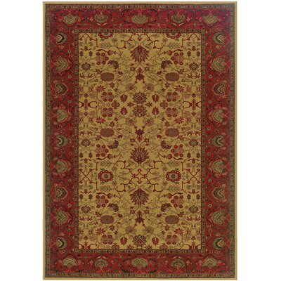 Cipriani Tabriz/Harvest Gold Area Rug Rug Size: Rectangle 92 x 125