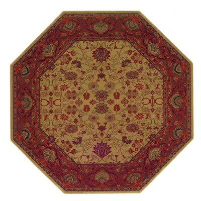 Cipriani Tabriz/Harvest Gold Area Rug Rug Size: Octagon 311