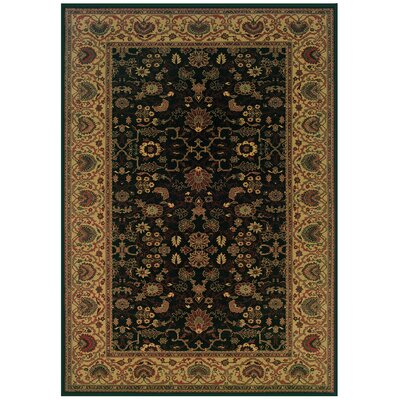 Cipriani Black/Beige Area Rug Rug Size: Rectangle 53 x 76