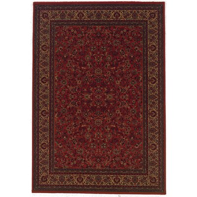 Chivers Yellow/Crimson Area Rug Rug Size: Runner 27 x 71