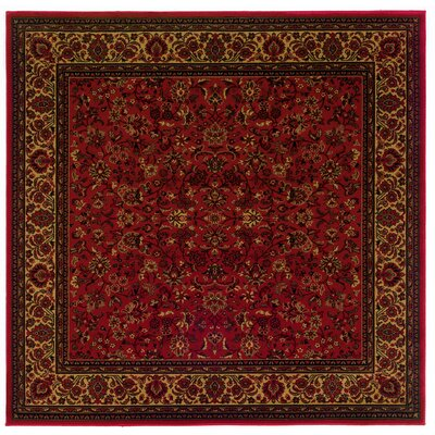 Chivers Yellow/Crimson Area Rug Rug Size: Square 710