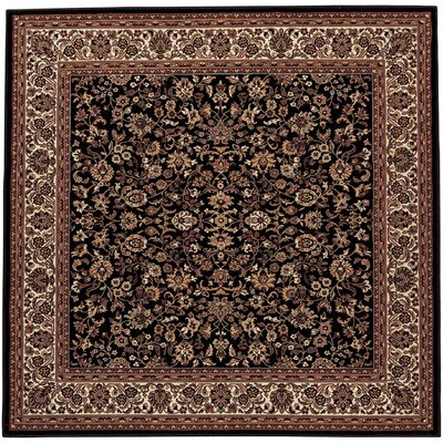 Cipriani Isfahan Black/Brown Area Rug Rug Size: Square 710
