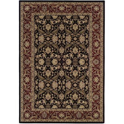 Copacabana Hand-Woven Black/Yellow Area Rug Rug Size: Runner 22 x 76