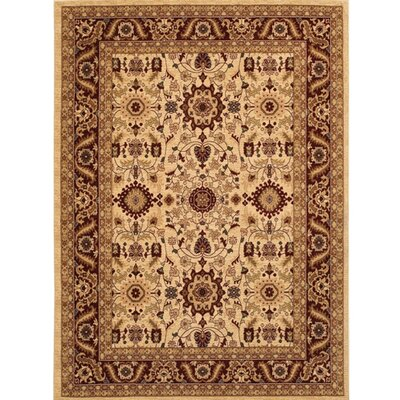 Crillon Beige/Brown Area Rug Rug Size: 98 x 131