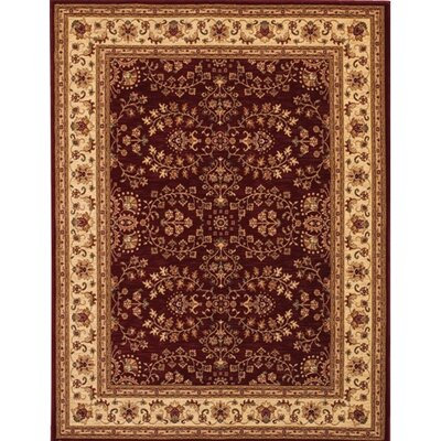 Crillon Red/Yellow Area Rug Rug Size: Rectangle 98 x 131