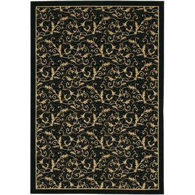 Cipriani Yellow/Black Area Rug Rug Size: Runner 27 x 71