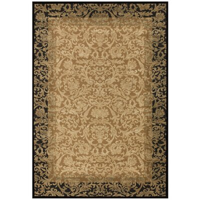 Cipriani Gold Area Rug Rug Size: 92 x 125