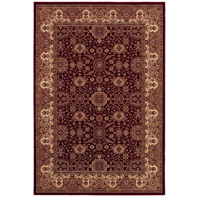 Copacabana Persian Red Rug Rug Size: Rectangle 92 x 126