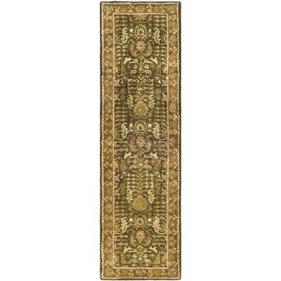 Carnasheeran Green/Gold Tree of Life Rug Rug Size: Runner 23 x 10