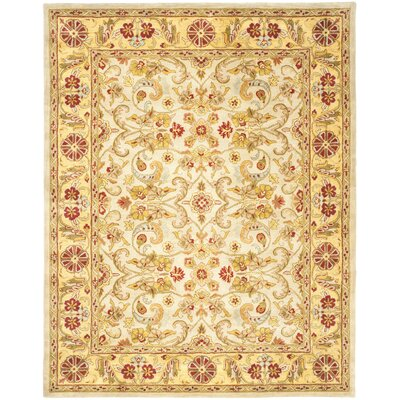 Carnasheeran Light Green/Gold Area Rug Rug Size: 6' x 9'