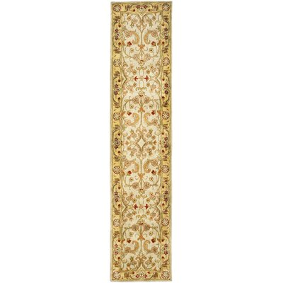 Carnasheeran Light Green/Gold Area Rug Rug Size: Runner 23 x 22