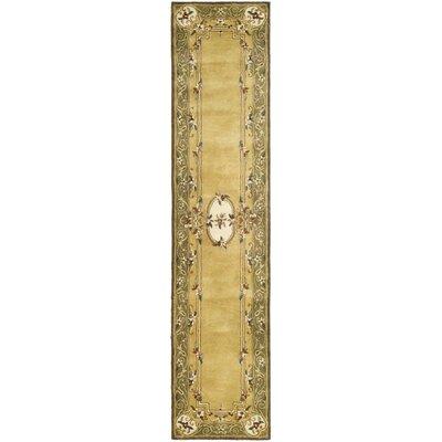 Carnasheeran Light Gold / Green Area Rug Rug Size: 2'3