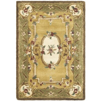 Carnasheeran Light Gold / Green Area Rug Rug Size: 3' x 5'
