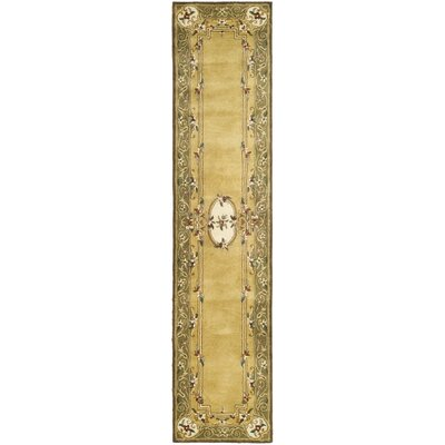 Carnasheeran Light Gold / Green Area Rug Rug Size: Runner 23 x 8