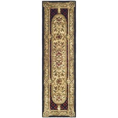 Carnasheeran Gold / Black Area Rug Rug Size: 23 x 4