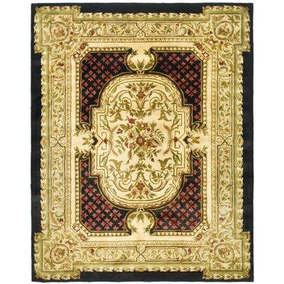 Carnasheeran Gold / Black Area Rug Rug Size: 96 x 136