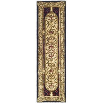 Carnasheeran Gold / Black Area Rug Rug Size: Runner 23 x 8
