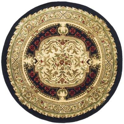 Carnasheeran Gold / Black Area Rug Rug Size: Round 3'6