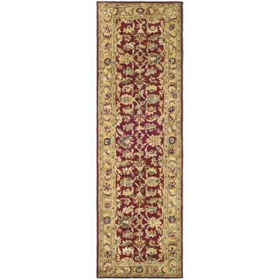 Carnasheeran Red / Gold Area Rug Rug Size: Runner 23 x 8