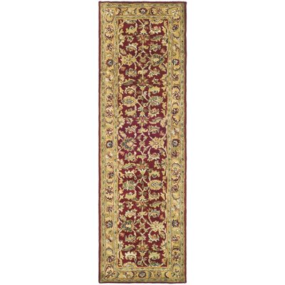 Carnasheeran Red / Gold Area Rug Rug Size: Runner 23 x 12