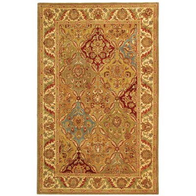 Carnasheeran Gold Area Rug Rug Size: Rectangle 3' x 5'