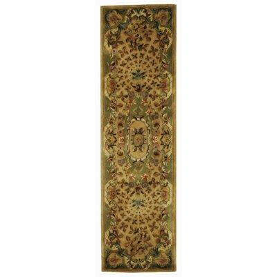 Carnasheeran Taupe / Light Green Oriental Rug Rug Size: Runner 23 x 8