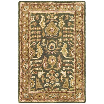 Carnasheeran Green/Gold Tree of Life Rug Rug Size: Oval 46 x 66
