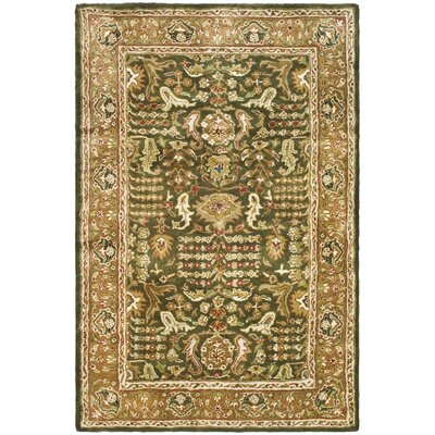 Carnasheeran Green/Gold Tree of Life Rug Rug Size: 4' x 6'