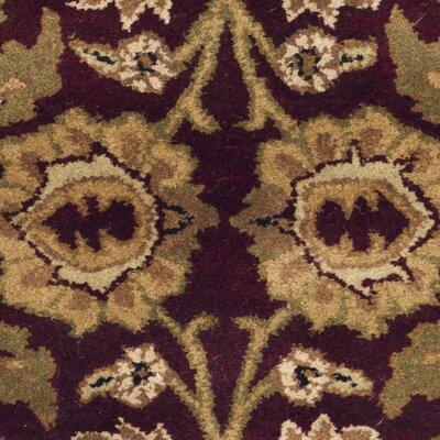 Carnasheeran Burgundy/Black Rug Rug Size: Oval 4'6