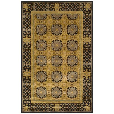 Carnasheeran Gold/Black Rug Rug Size: Rectangle 96 x 136