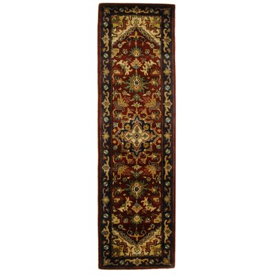 Carnasheeran Assorted/Red Rug Rug Size: Runner 23 x 12