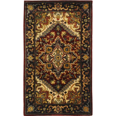 Carnasheeran Assorted/Red Rug Rug Size: 23 x 4