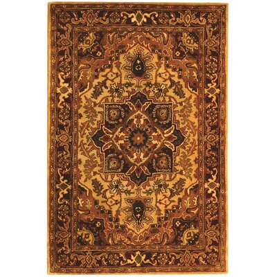 Carnasheeran Light Gold/Red Rug Rug Size: 2 x 3